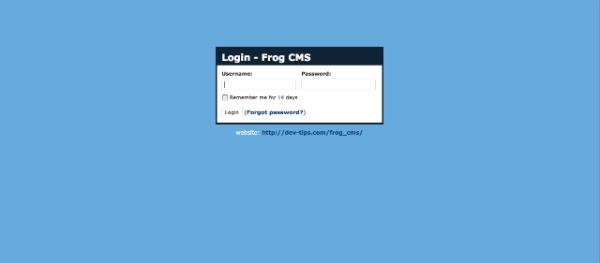 Frog CMS Login