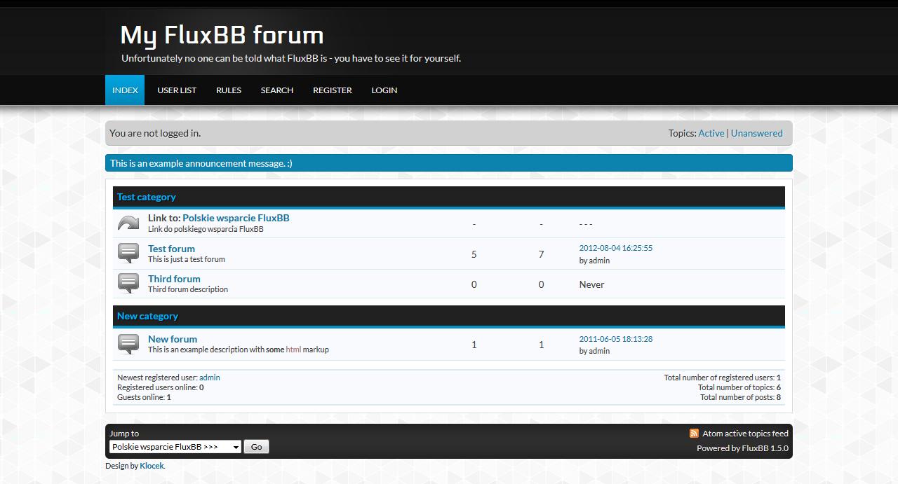 FluxBB Theme Example
