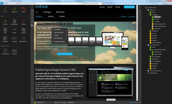 Dynamix CMS Demo Dashboard
