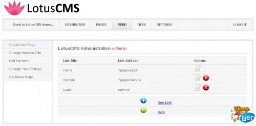 Lotus CMS Admin Demo