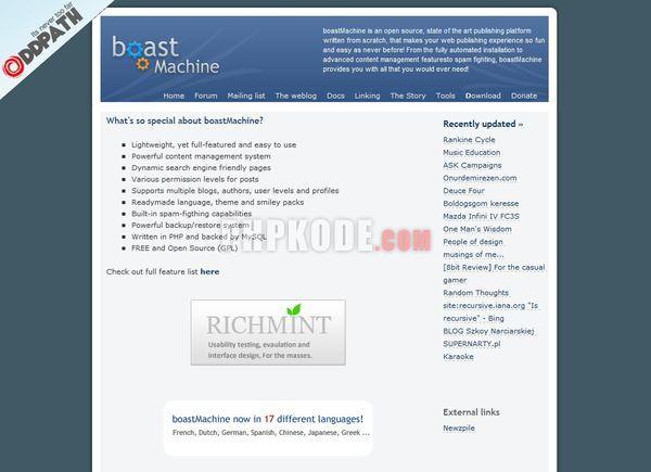 BoastMachine Website