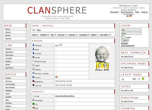 ClanSphere Backend