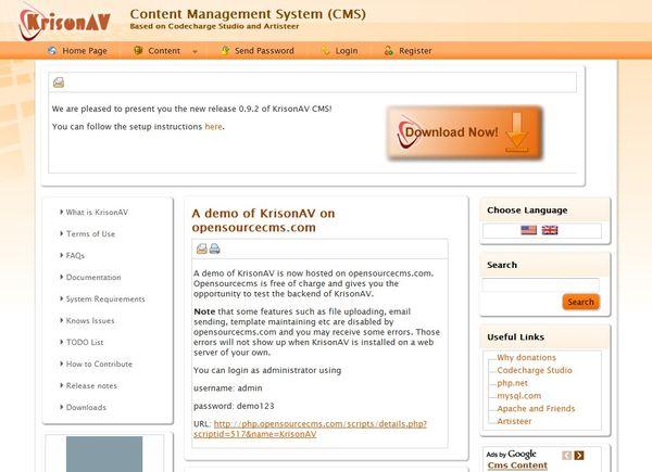 KrisonAV CMS Demo Site