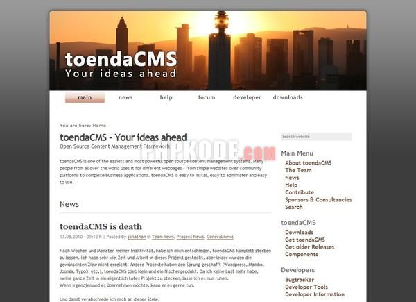 ToendaCMS Demo Site