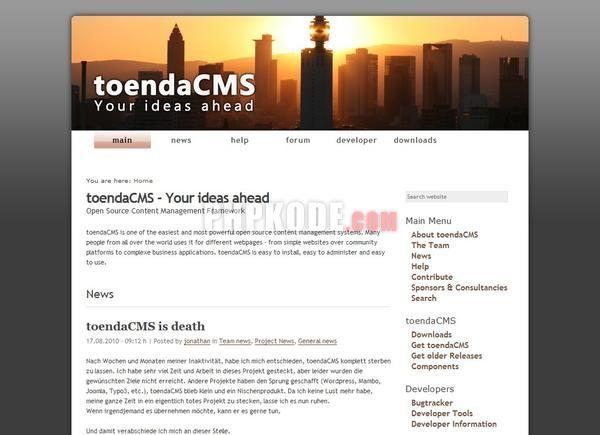 ToendaCMS Demo Site