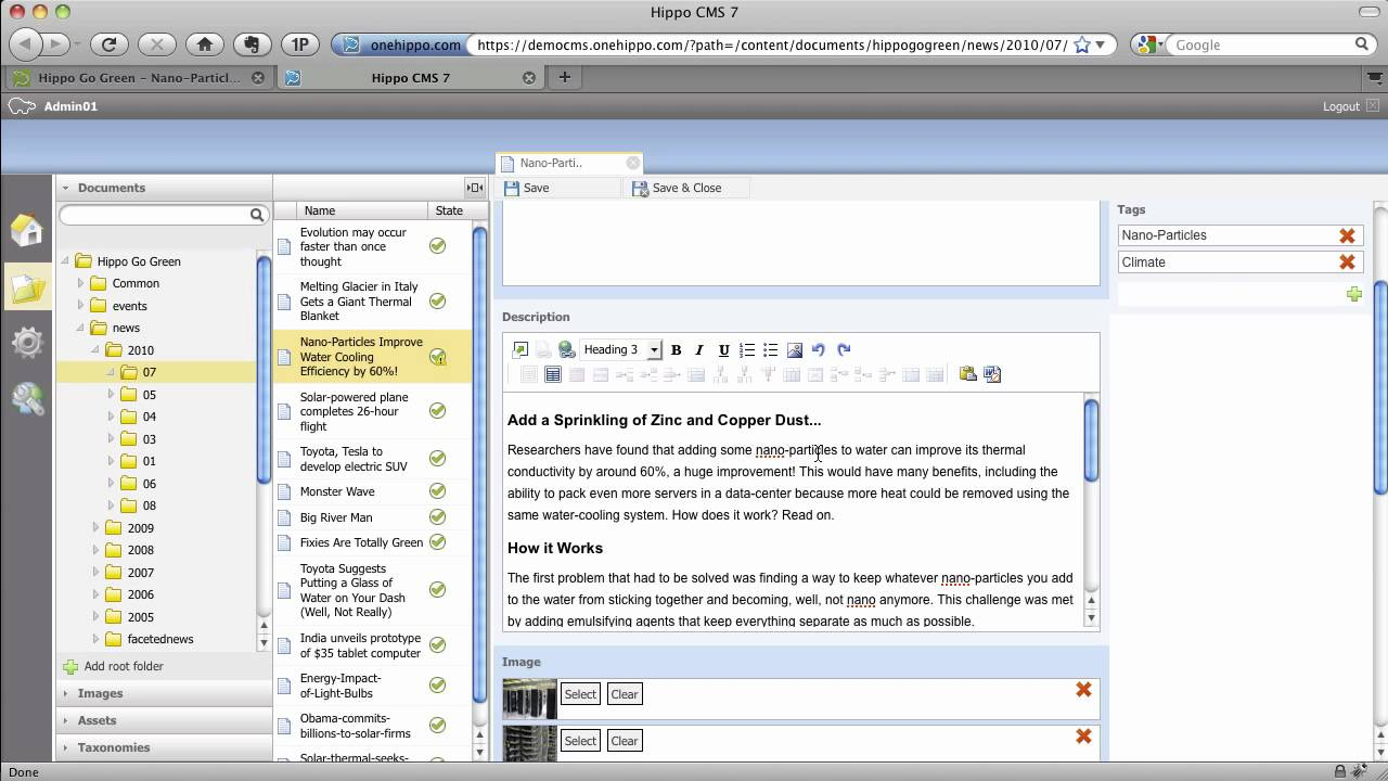 Hippo CMS Admin Demo Version 7.x