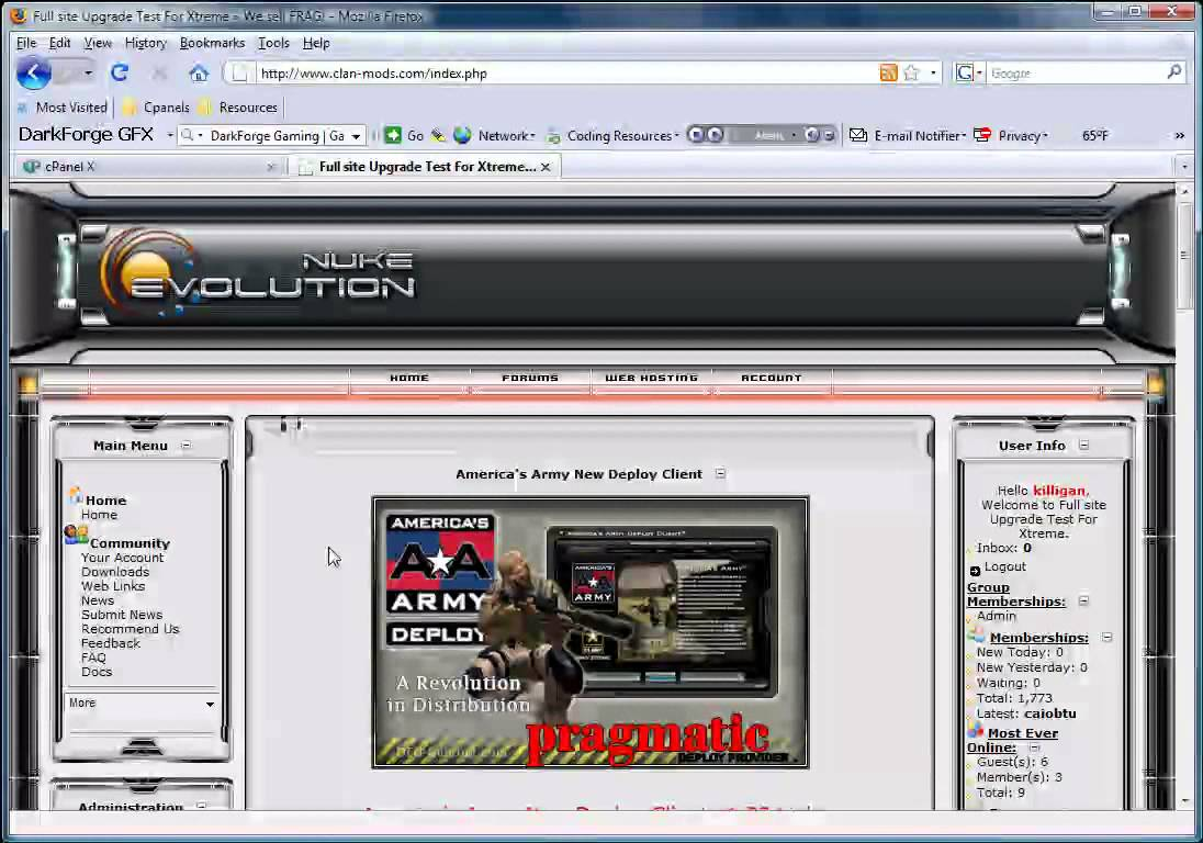 Nuke Evolution-Xtreme CMS Demo Site