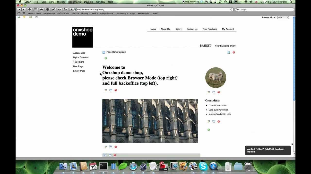 Onxshop CMS Demo Site