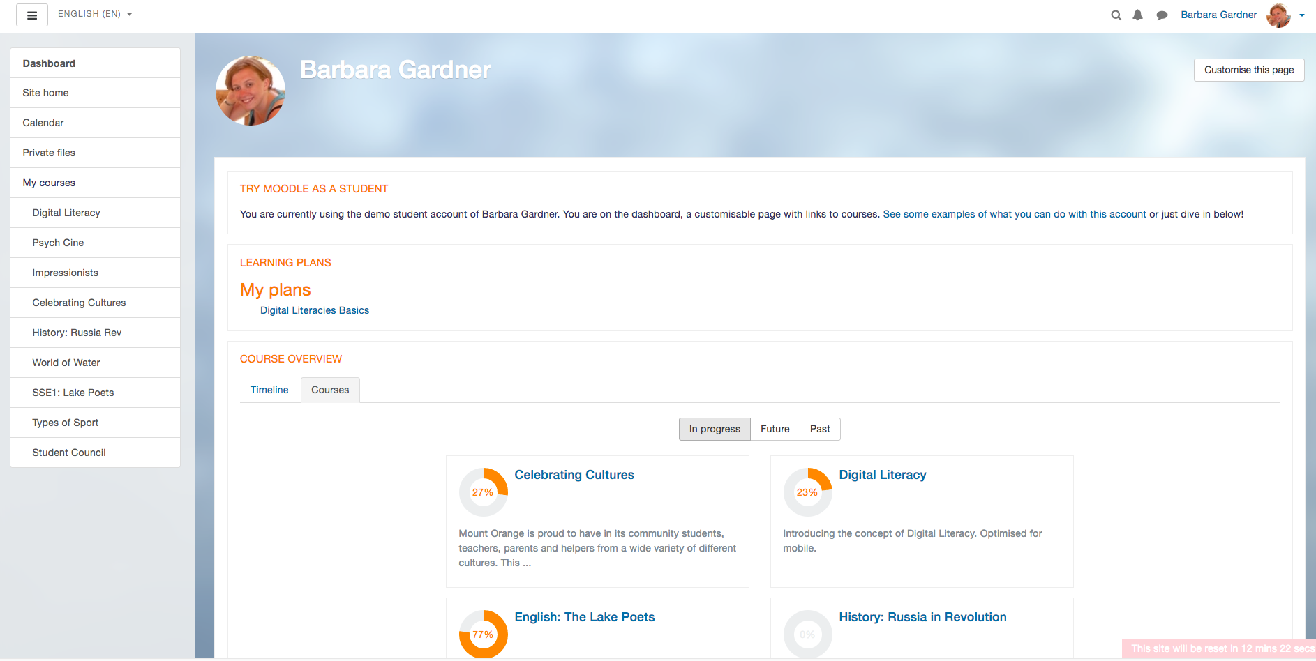 moodle demo preview