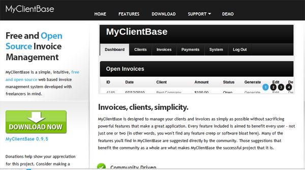 MyClientBase Demo Site Try MyClientBase Without Installing It - Open source invoice management