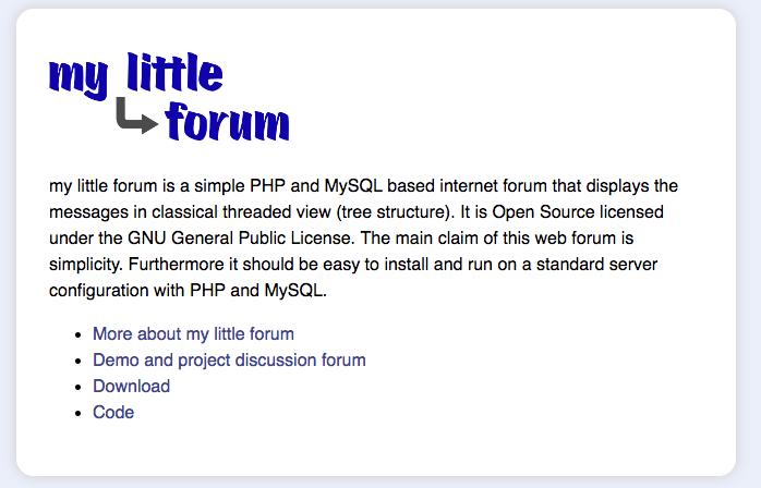 mylittleforum demo preview