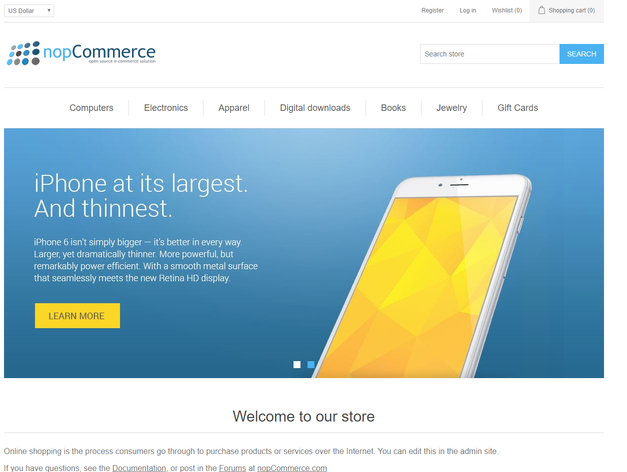 nopCommerce demo store