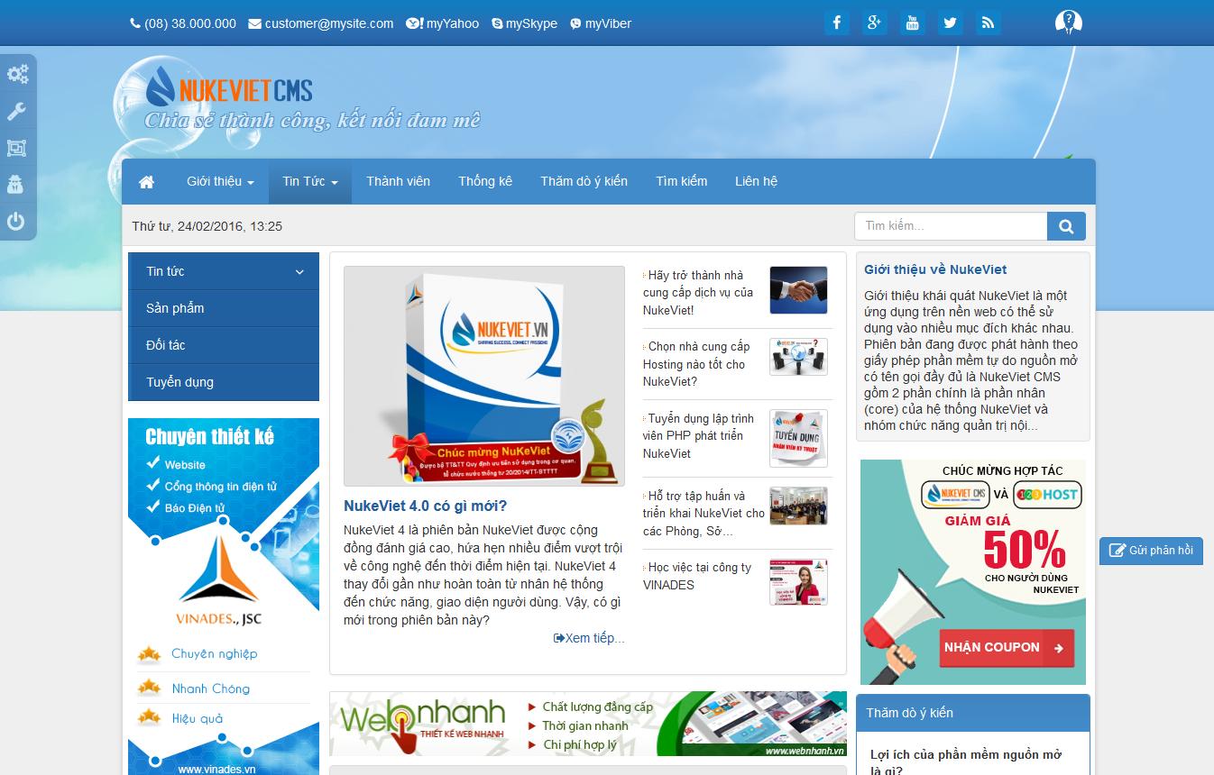 NukeViet CMS Demo Site