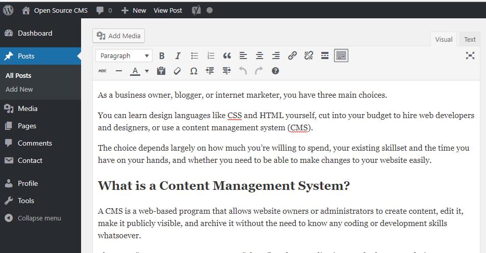 open source cms