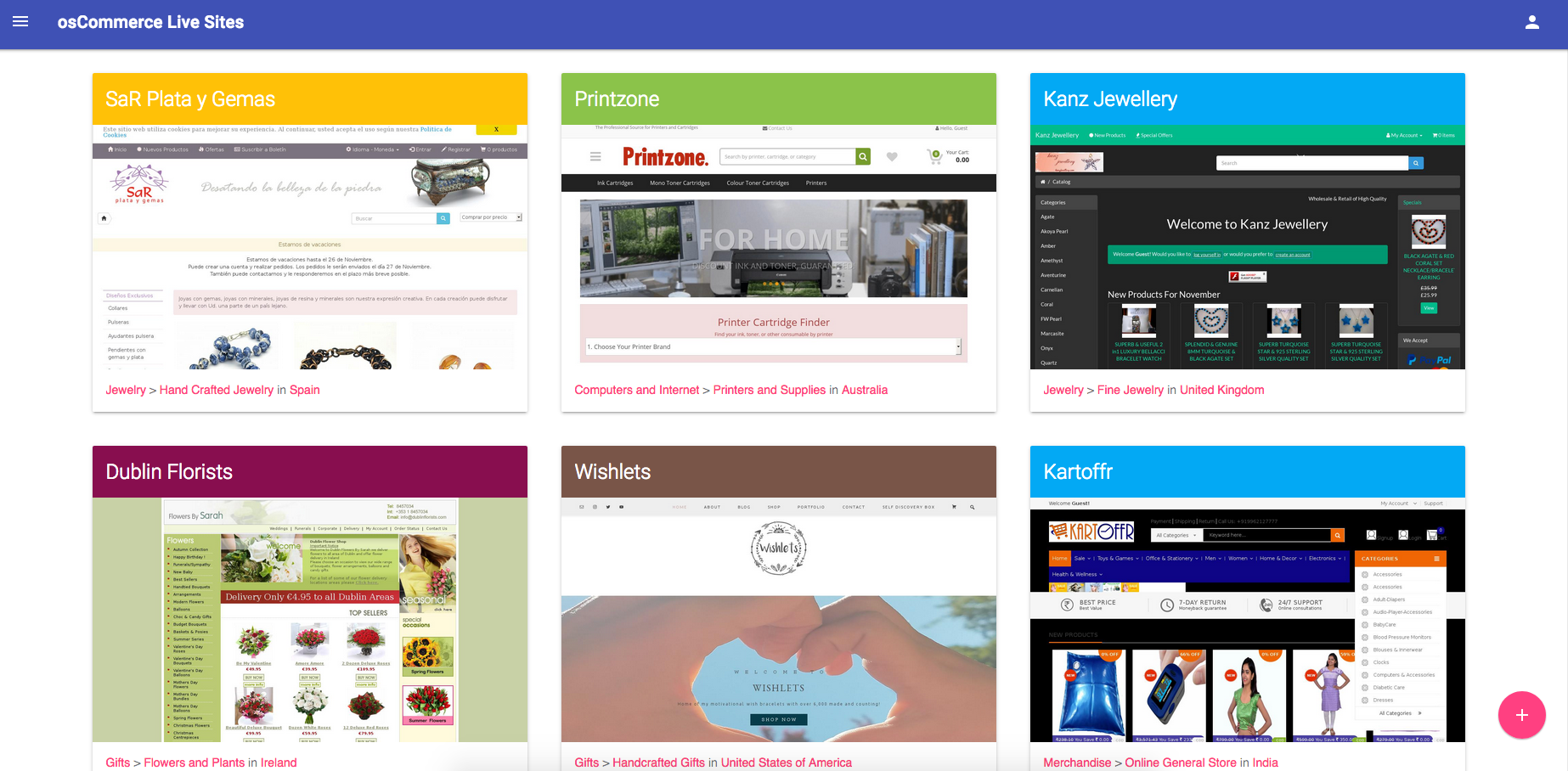 OsCommerce Themes - Live Sites Examples