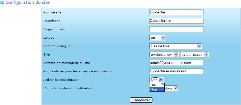Ovidentia CMS Configuration