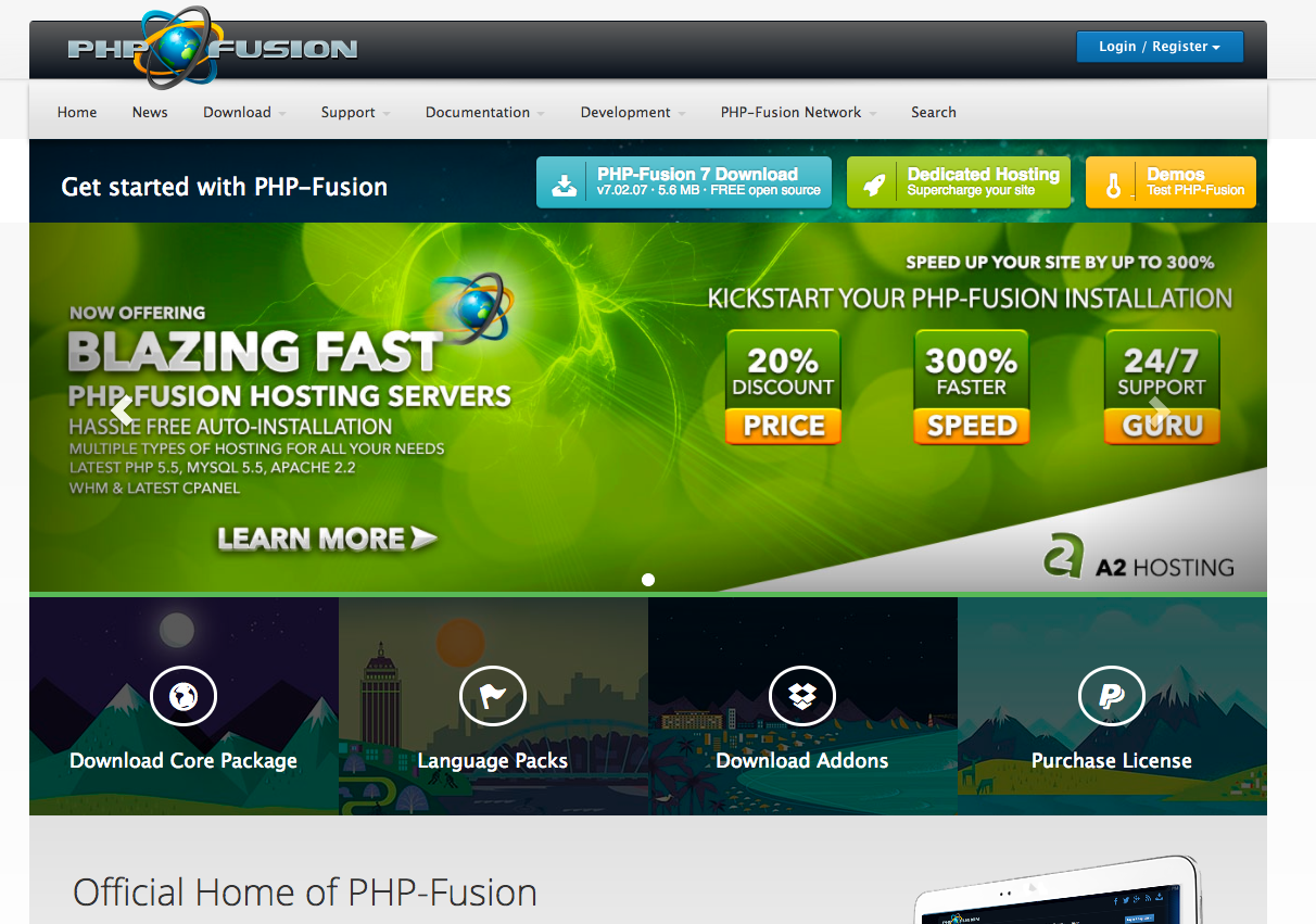 php fusion demo preview