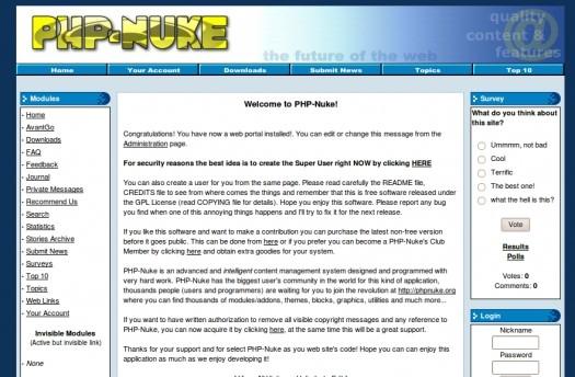 Php Nuke CMS Demo Site