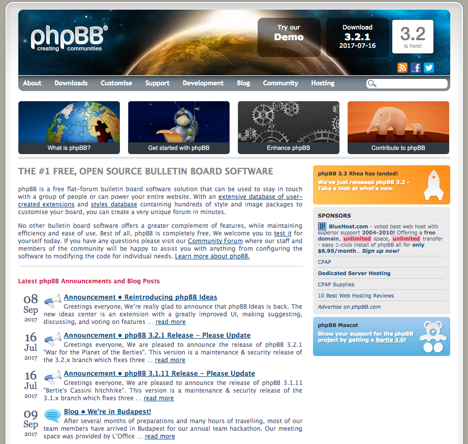 phpbb demo preview