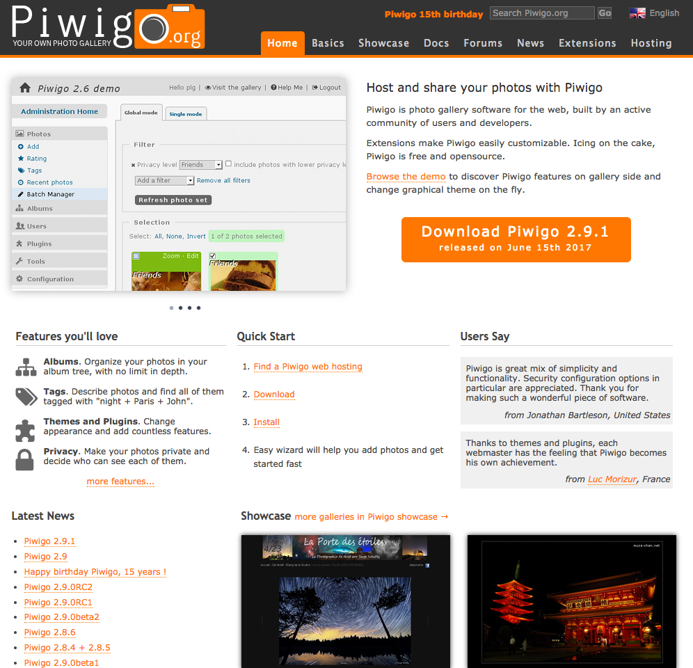 piwigo demo preview