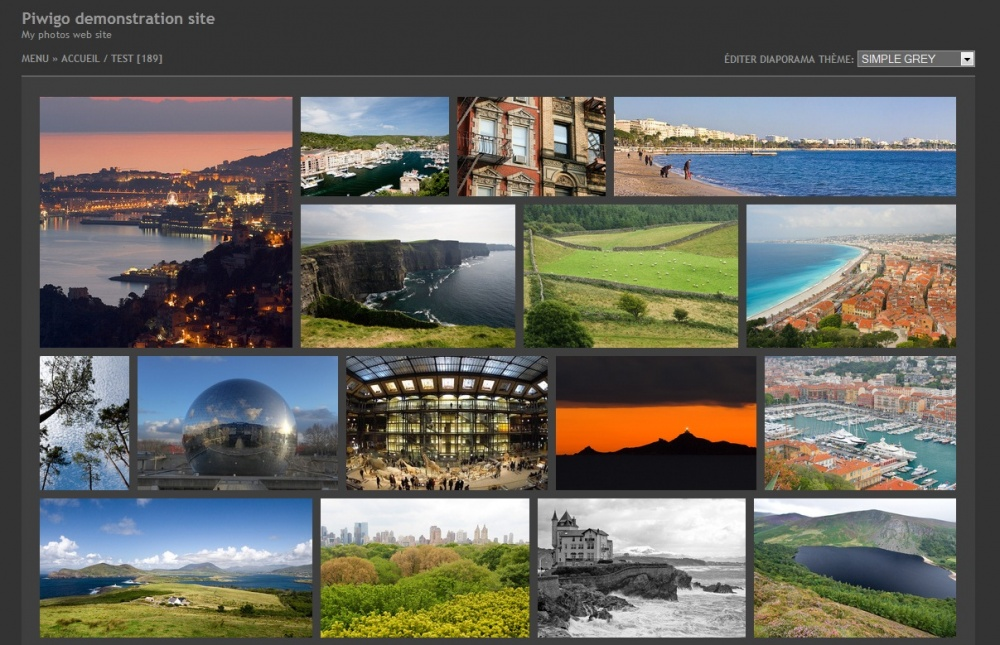 Piwigo gallery theme example 4
