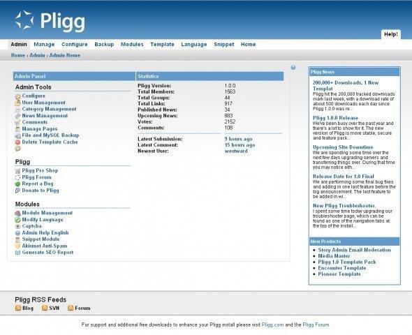 pligg demo preview