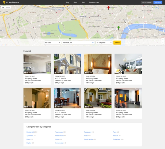 Pg real Estate Theme Example