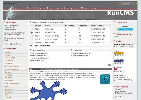 RunCMS Demo Site