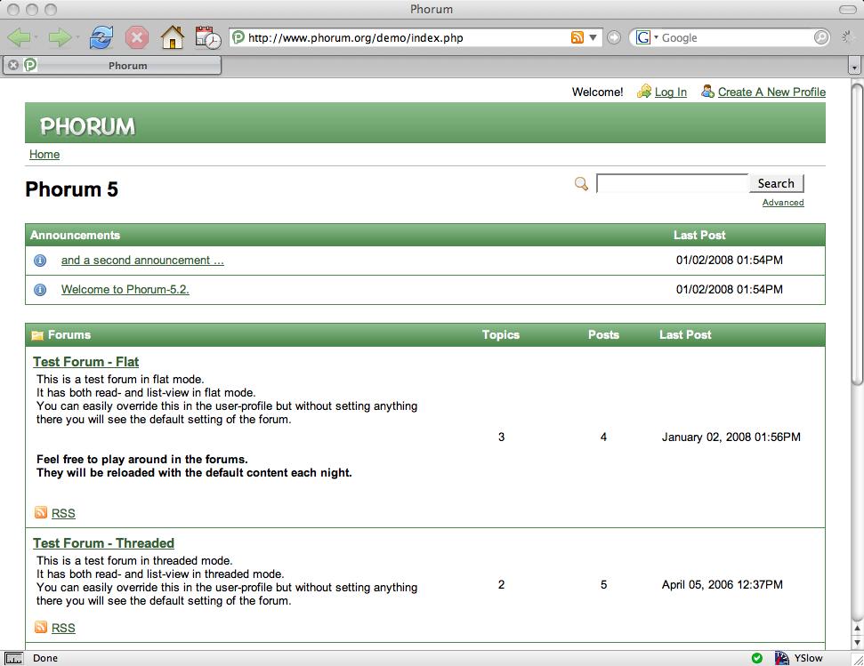 Phorum Demo Site