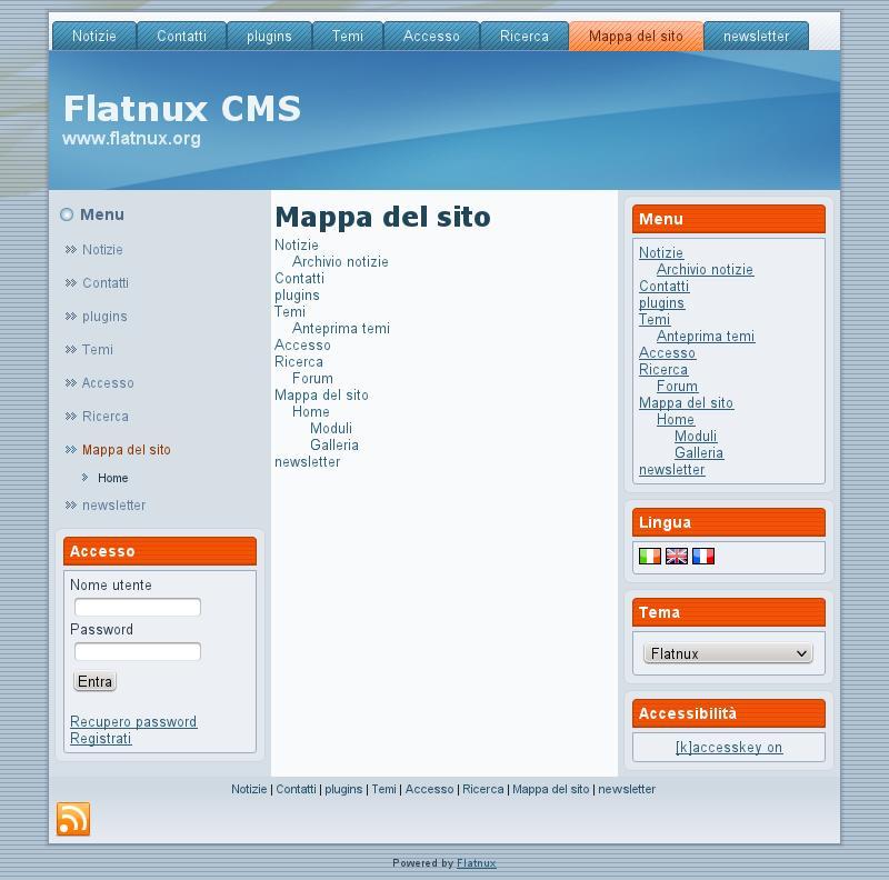 Flatnux CMS Demo