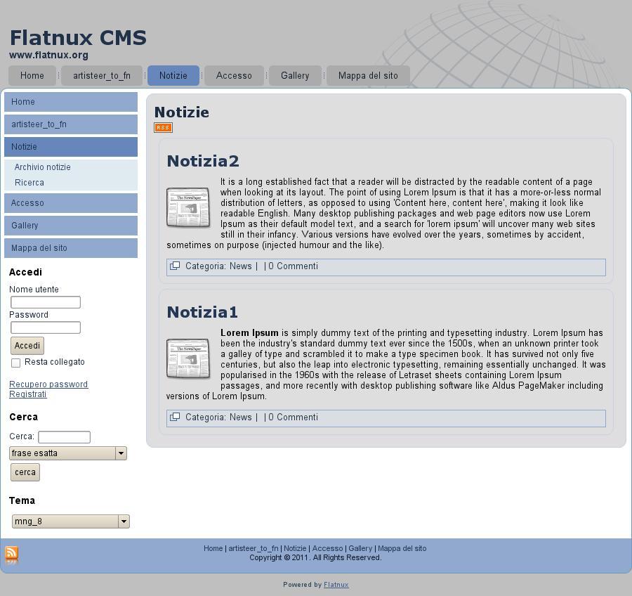 Flatnux CMS Demo Page