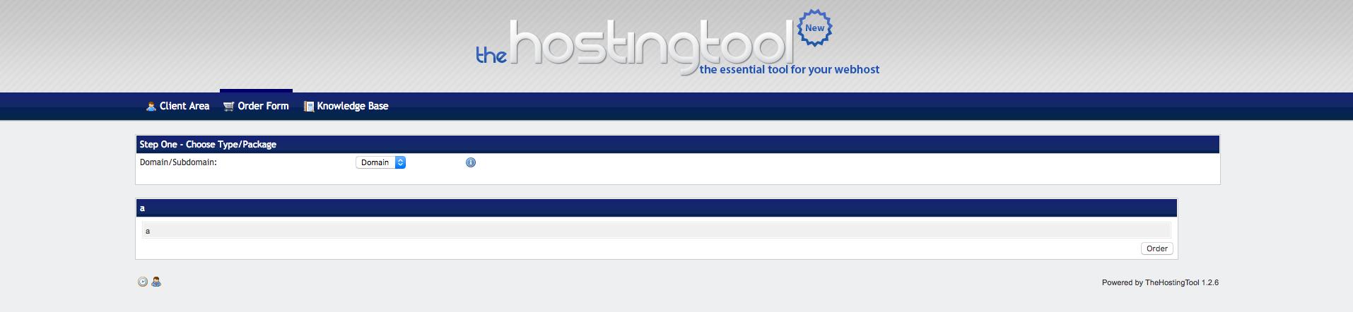 thehostingtool demo preview