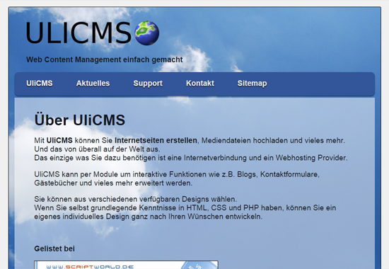 UliCMS Demo Site