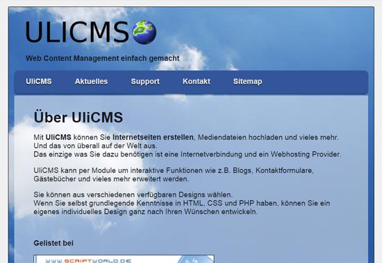 UliCMS Demo Site