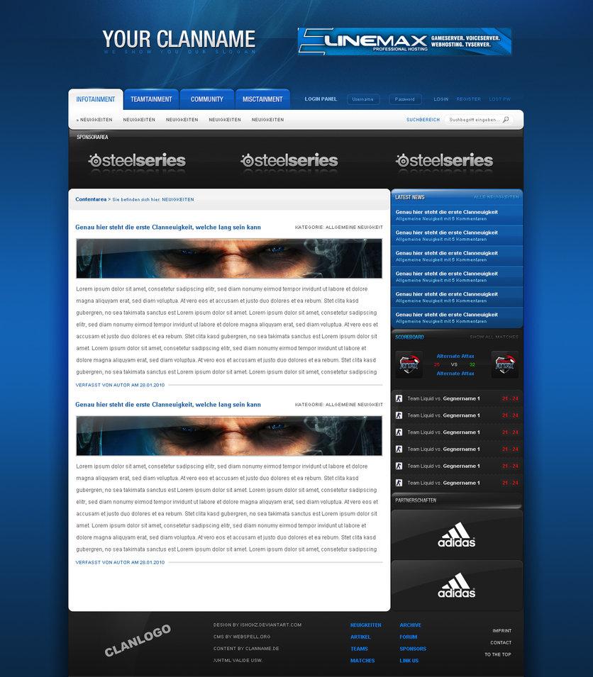webSPELL CMS Theme Example