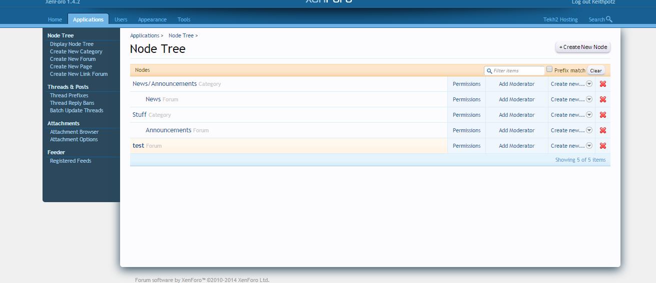 XenForo Admin Demo - Setting up a private forum
