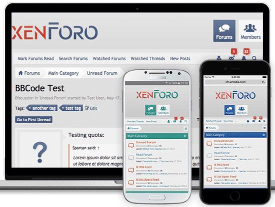 XenForo Mobile Theme Preview