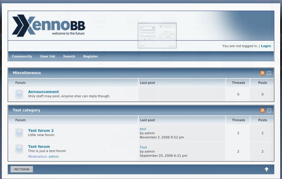 XennoBB Demo Site