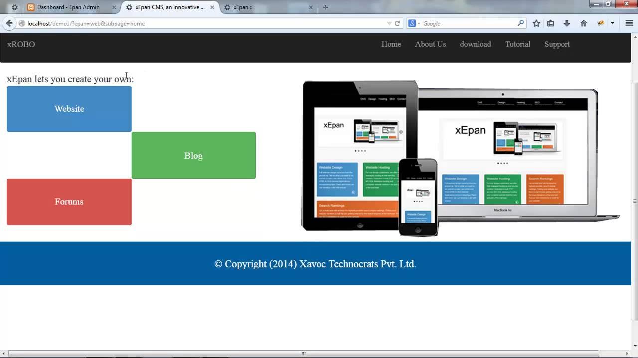 xEpan CMS Demo Site