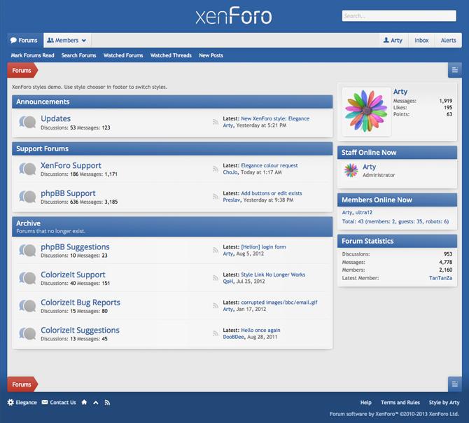 XenForo Theme Example